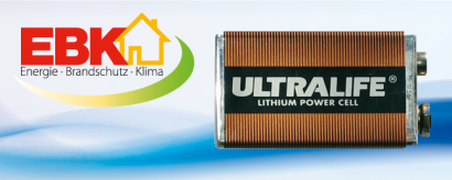 Ultralife 9V Lithium-Block-Batterie
